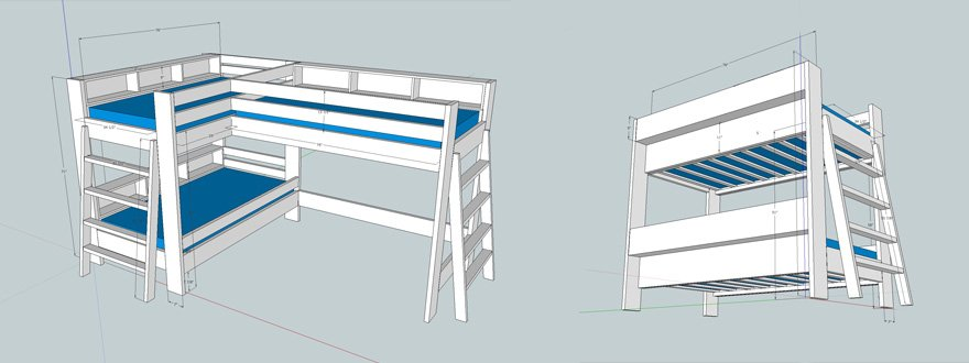 Permalink to plans for wood bunk beds