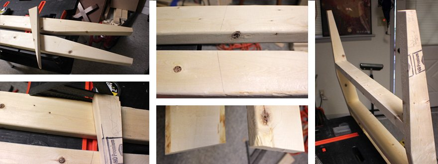 Use the scrap wedge as a guide for the angle of the steps.