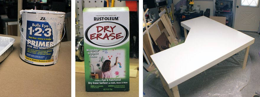 For whiteboard paint, you want the smoothest finish possible, both for the primer and final coats. SMOOTH...