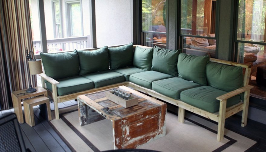 How to make an outdoor sectional i like to make stuff for Build a sectional couch