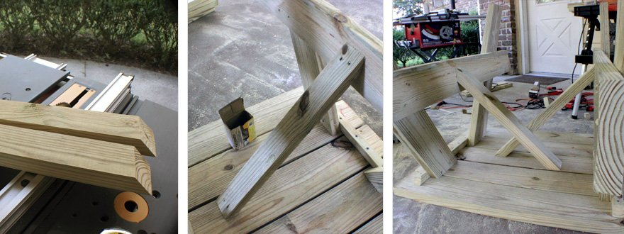 You CAN split the 2x6 down the center with a circular saw, but a table saw makes it MUCH easier.
