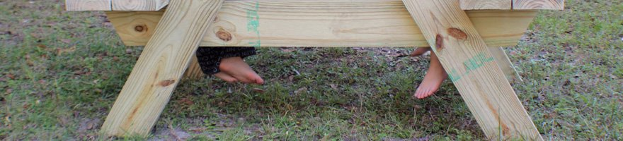 How to make a picnic table for two