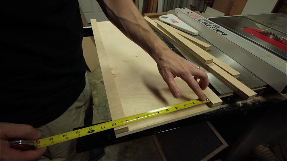 measure gap for side pieces