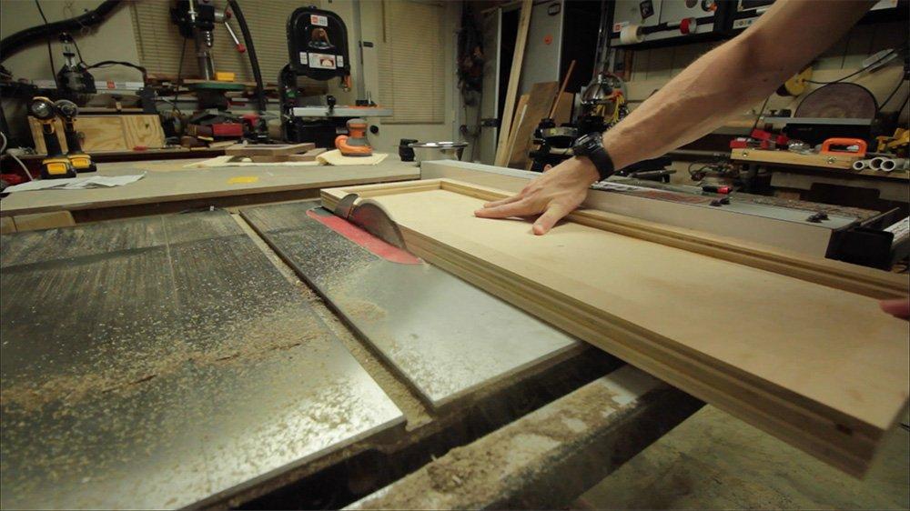 trim off plywood edges