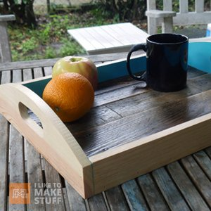 How to make a serving tray from pallet wood i like to for How to make stuff out of wooden pallets