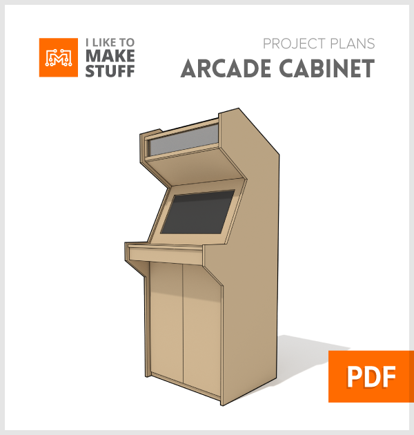 Arcade cabinet digital plan i like to make stuff for Cabinets plans