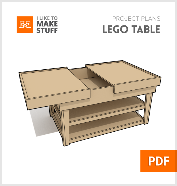 Lego build table - Digital Plan - I Like to Make Stuff