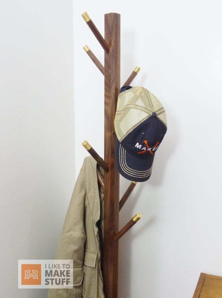 How to Make a Walnut and Brass Coat Rack-Make the Base-I Like to Make Stuff