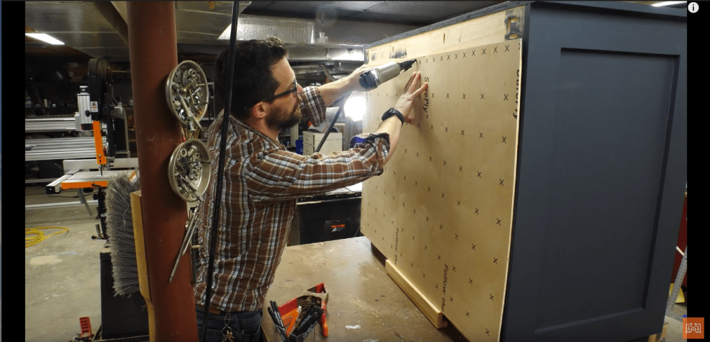 How to Make a Map Cabinet - Mount the Backing