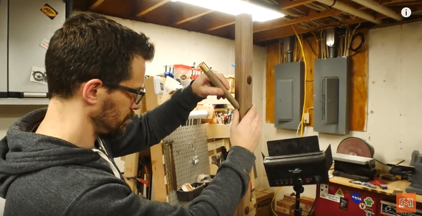 How to Make a Walnut and Brass Coat Rack-Make the Base-Attach the Pegs